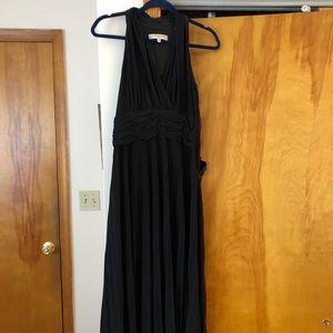 Black evening dress by Evan Picone. Zipper on side